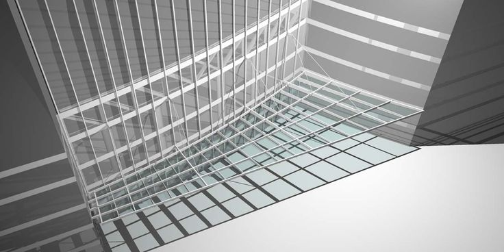 Entrance canopy / stainless steel / glass canopy - FEDERATION TOWER - Stahlbau Pichler