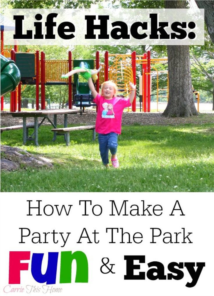 Hosting a party at the park can be overwhelming, but this list of tips makes it super easy! http://carriethishome.com/2014/07/frozen-inspired-birthday-party/
