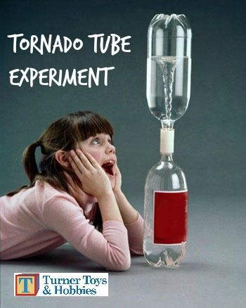 Looking for a great, inexpensive science experiment for kids?  Learn about vortexes with the Tornado Tube from Turner Toys & Hobbies.
