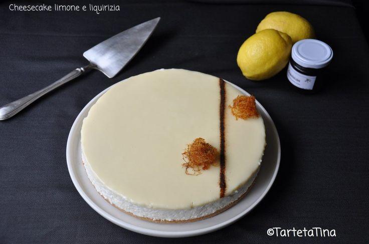 Cheesecake al limone e liquirizia di Tina
