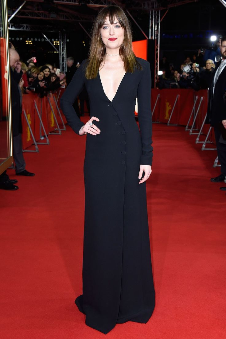 Dressed in a Dior plunging gown for the Berlin World Premiere of Fifty Shades of Grey, Dakota Johnson's sexy sartorial choice spoke for itself.