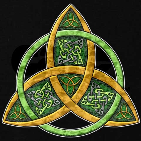 beautiful Triquerta with Celtic knot work and trinity knot in center.