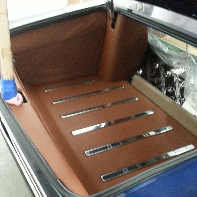 1967 chevelle #BecauseSS custom interior in brown, door panels console