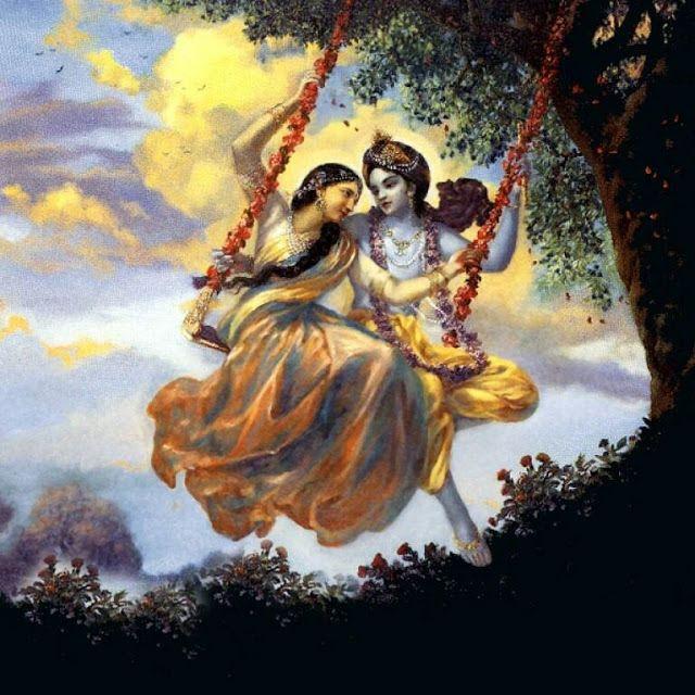 Spiritual Photos: Painting of Shree Radha Krishna                              …