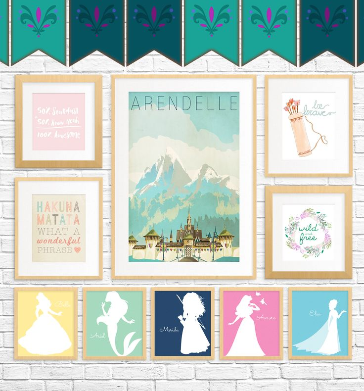 20 Free Fairy Tale Printables for Kids' Rooms — showcasing art that whimsical, princess and Disney lovers of all ages will adore.