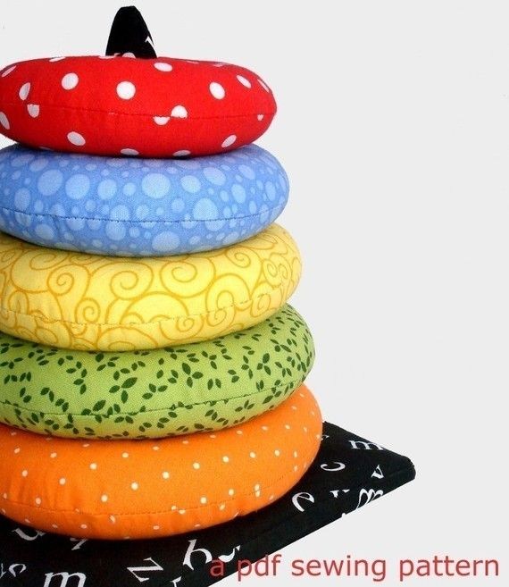 pdf sewing pattern for a ring stacker soft toy: