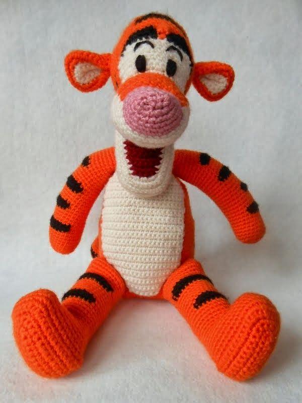 Crochet Tiger The Winne Pooh My Crochet Pinterest