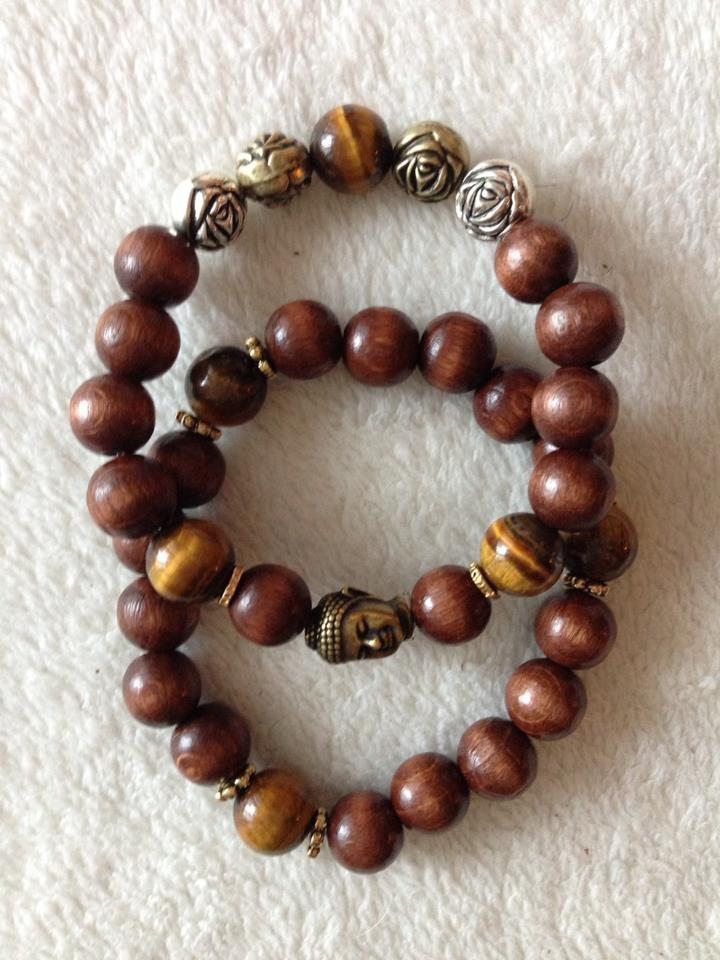 $75 for set Wooden Buddha Bracelets
