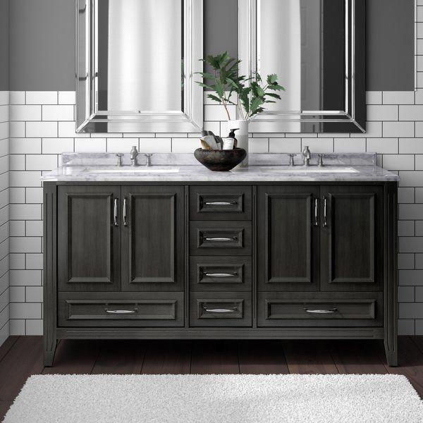 Greyleigh Schulenburg 60 Double Bathroom Vanity Set Reviews Wayfair Bathroomfixturesideas Double Vanity Bathroom Vanity Set Bathroom Vanity