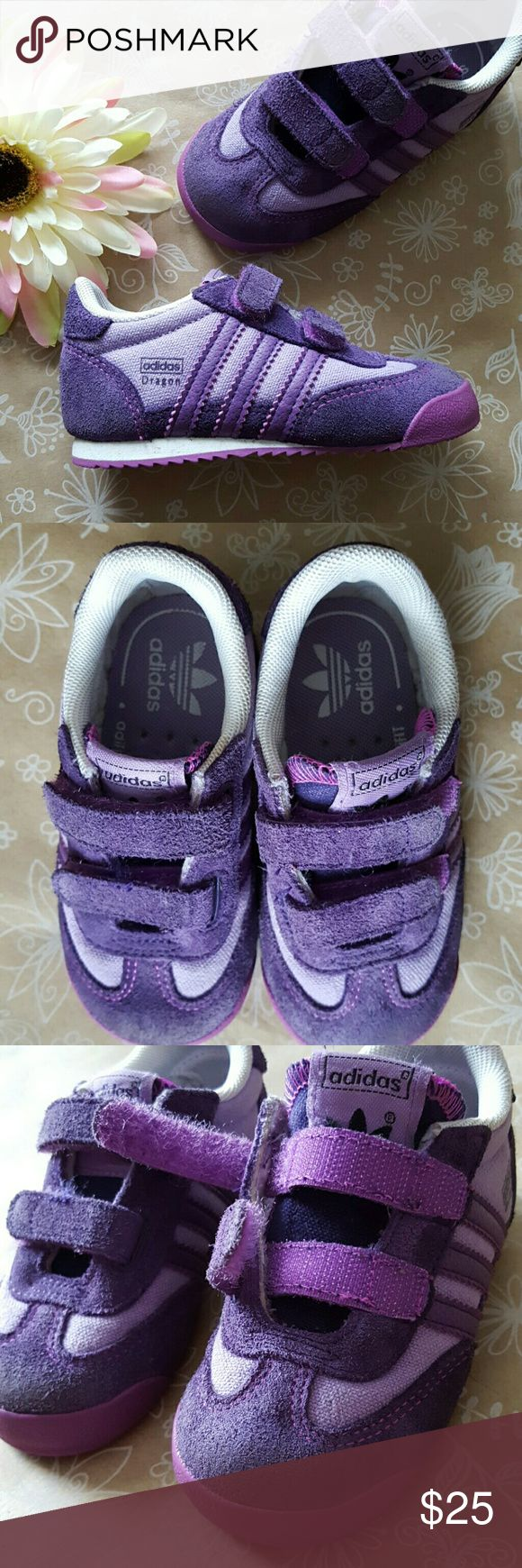 ADIDAS Originals Dragon Sneaker Purple 6 Toddler Excellent Used Condition Adidas Originals Sneakers. Awesome color for purple lovers! Pretty firm on price they're worth it... Adidas Shoes Sneakers