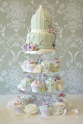 Rachelles Beautiful Bespoke Wedding Cake 'Birdcage Tower' (rachelles.co.uk). Just stunning.