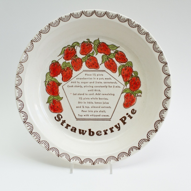 Strawberry Pie for a hot summer day! via Antiquaria & 70 best Pie plates \u0026 pans images on Pinterest | Pie plate ...