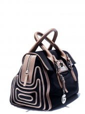 Italian Baldinini Fashion Shat Nabuk  Bag from 2012 Collection