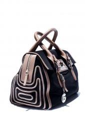 Italian Baldinini Fashion Shat Nabuk  Bag from 2012 Collection