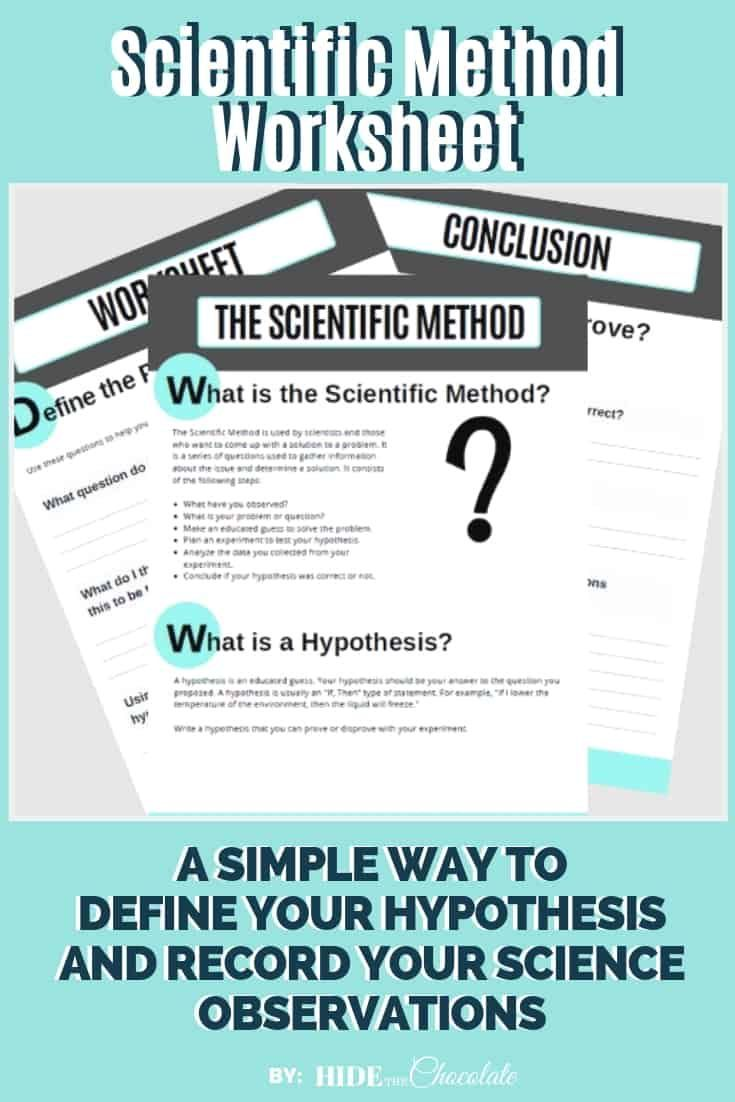 Our Scientific Method Worksheet Offers A Simple Way To Record Your Student S Hypo Scientific Method Worksheet Scientific Method Scientific Method Middle School
