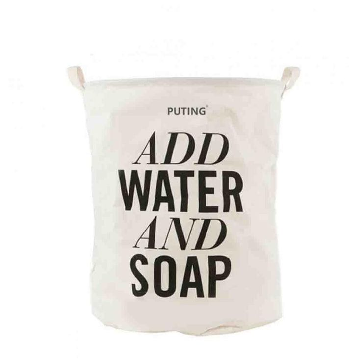 Foldable Cotton&Linen Washing Clothes Laundry Basket Bag Hamper Storage 40cm*50cm/15.7''*19.6'' 1 PCS/Lot