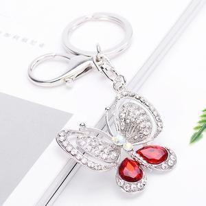 Neue Reizende Kristall Schmetterling Schlüsselanhänger Kreative Schlüsselanh…