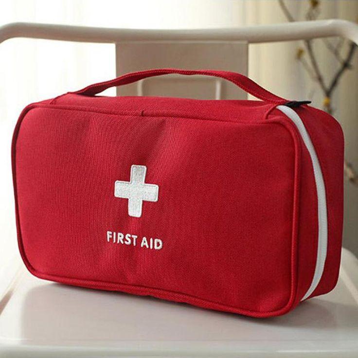 Kit Bolsa de Escritório Em Casa De Viagem de Emergência Médica de Primeiros Socorros vazio Caso Saco Kit Médico Portátil de Primeiros Socorros Saco de Sobrevivência de resgate Kit