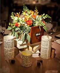 decorations  for literary wedding