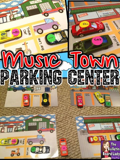 Mrs. King's Music Room: Music Town Parking Center -Music Workstation with Little Cars