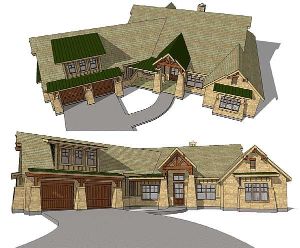 Plan 34001cm luxurious craftsman home with bonus room for Craftsman house plans with bonus room