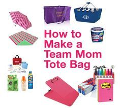 Everything but the kitchen sink! Okay...not really but definitely my go-to list of what you need to have on hand ~ How to Make a Team Mom Tote Bag {Team Mom Tips} #teammom #sportsmom