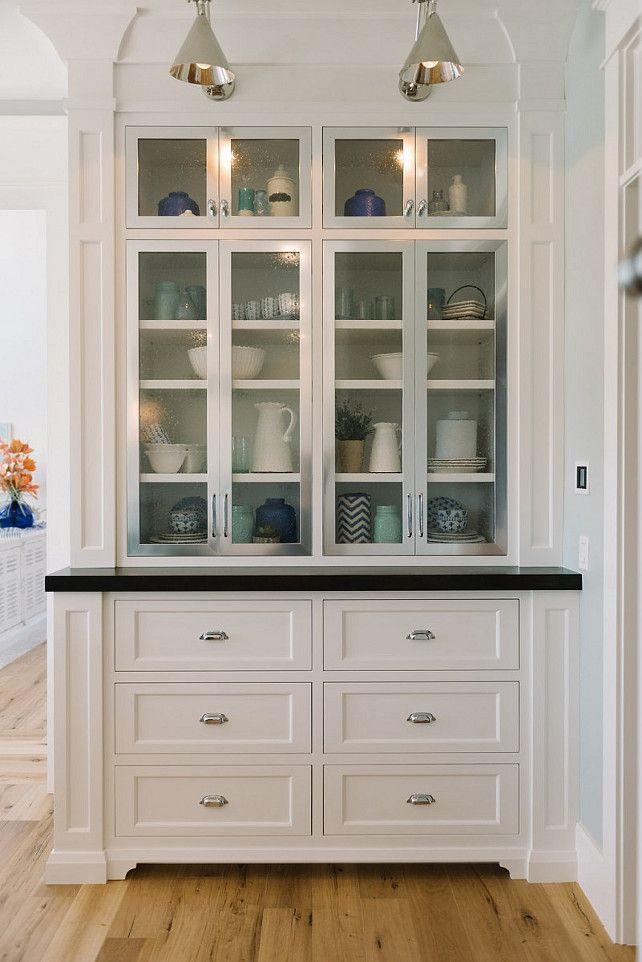 Kitchen Butler's Pantry Cabinet Ideas. White Kitchen Butler's Pantry Cabinet…