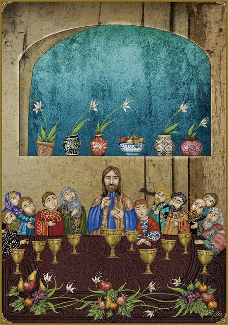The Last Supper | The life of Jesus illustrated by Nerina Canzi