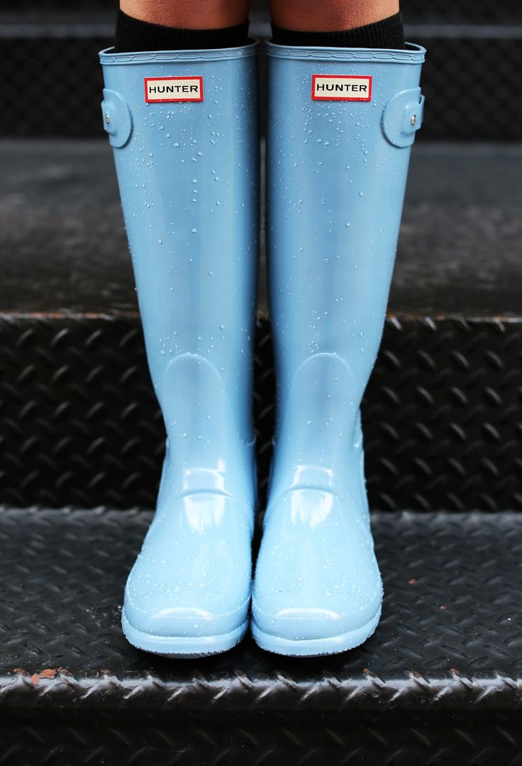 Baby blue #hunter boots
