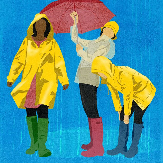 """""""Style and the Raincoat"""" for The Wall Street Journal: Ask Teri - Amy DeVoogd Illustration"""