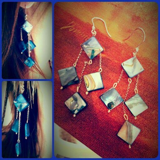 Earrings /nacre-and-silver/ #createdbyme