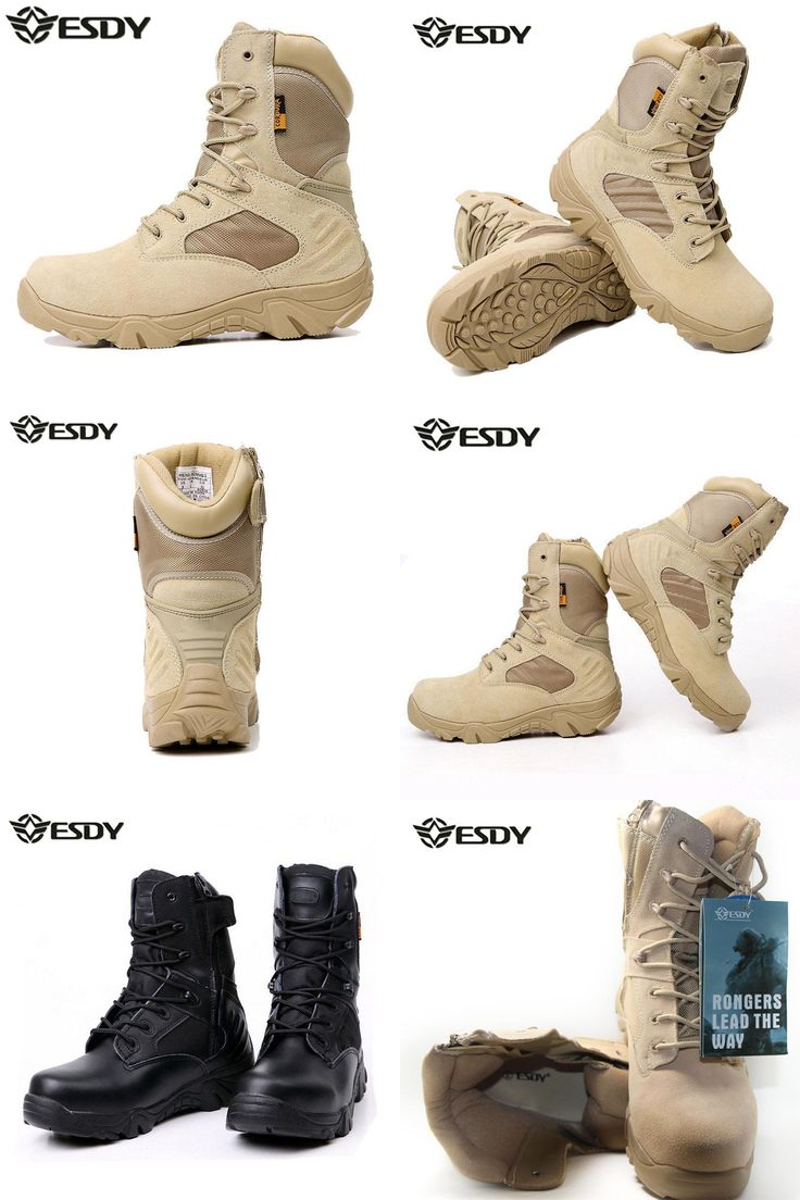 [Visit to Buy] Esdy Real Rushed 2017 Summer Men's Desert Camouflage Military Tactical Boots Men Combat Army Botas Militares Sapatos Masculino  #Advertisement