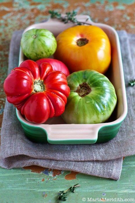 Heirloom Tomatoes on MarlaMeridith.com © MarlaMeridith.com