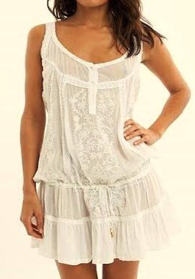 Pure White Chikankari Dress - Western Wear