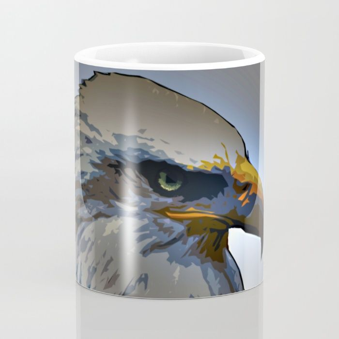 Buy Eagle Mug by Animilustration. Worldwide shipping available at Society6.com. Just one of millions of high quality products available.