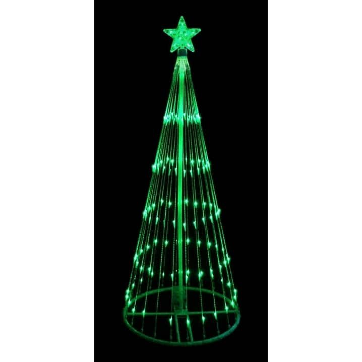 9' LED Light Show Cone Christmas Tree Lighted Yard Art Decoration