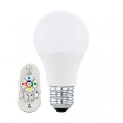 EGLO Connect E27 LED Leuchtmittel 9W 806lm 2700-6500K, RGB inkl. Bluetooth Fernbedienung