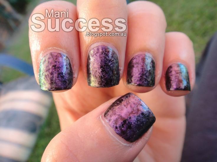 Saran wrap nails.