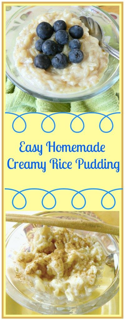 Easy Homemade Creamy Rice Pudding | Skinny Sweets Daily