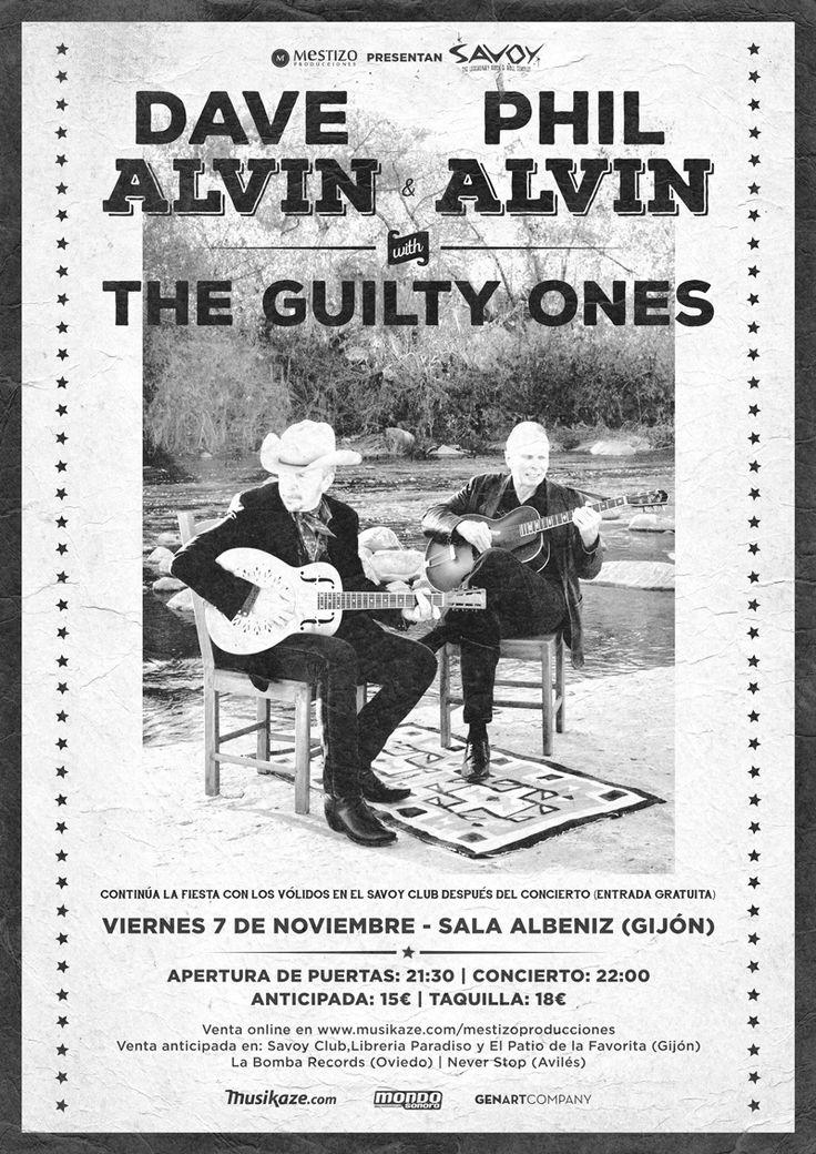 DAVE ALVIN & PHIL ALVIN WITH THE GUILTY ONES Sala Albéniz Gijón, Asturias (ESPAÑA)