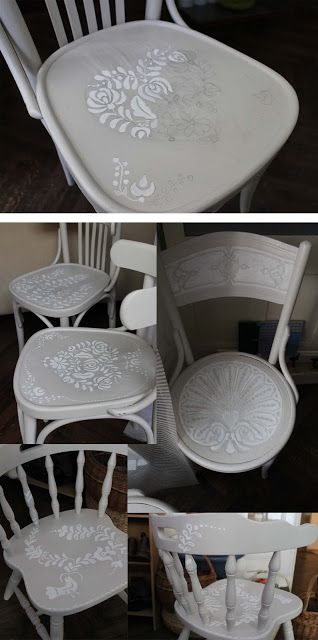 marvelous chairs with hungarian folk motif