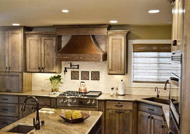 wood copper kitchen accent design | 17 Best images about Kitchen Sinks on Pinterest | Copper ...