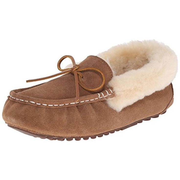 Pajar 1532 Womens India Suede Faux Fur Lined Moccasin Slippers Shoes Bhfo