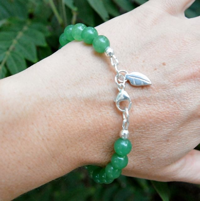 Shop the Jada Chic Bracelet. Custom made to fit. Jade Gemstones with Sterling Silver