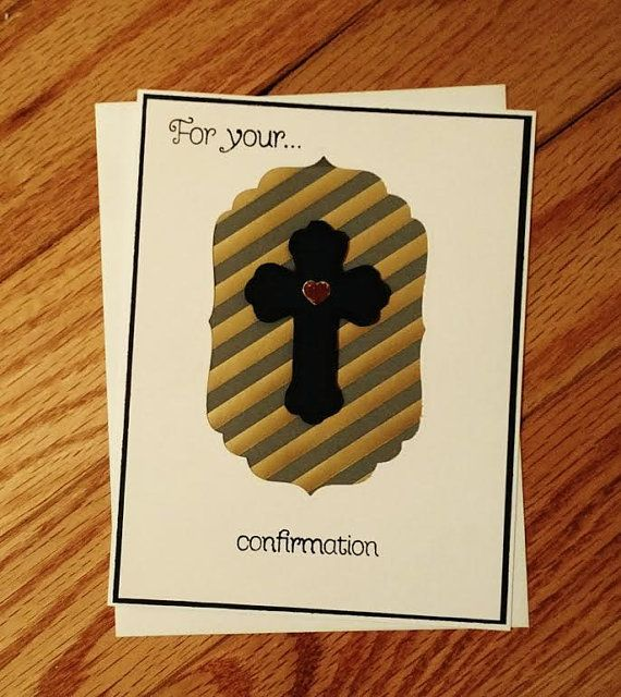 Confirmation card Confirmation gift Girl by StamptasticCards
