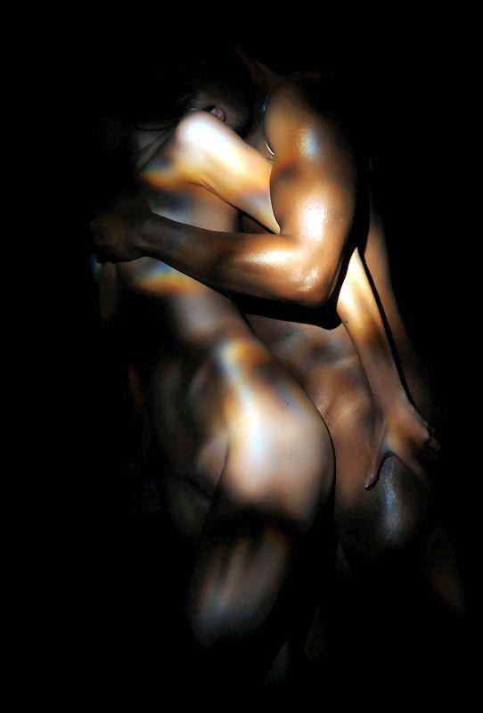 Blonde interracial erotica photo art