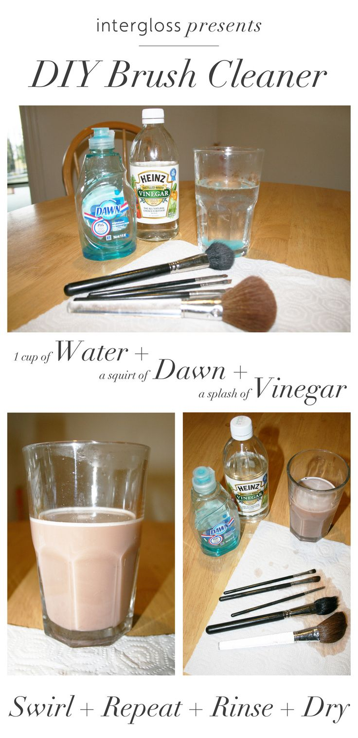 how to wash makeup brushes. diy brush cleaner ~ i will never buy again. how to wash makeup brushes r