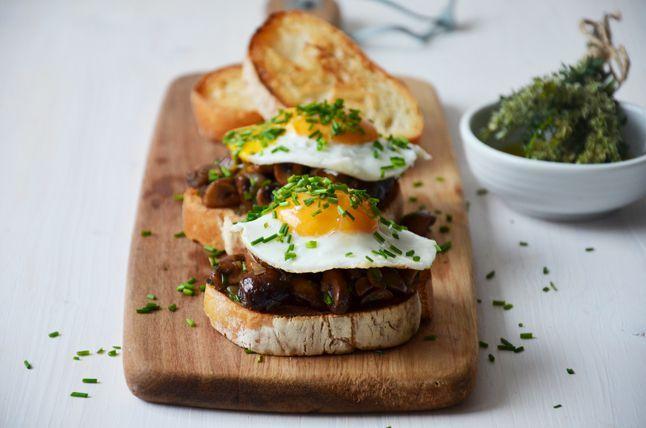 Kublanka vaří doma - Houbová bruschetta