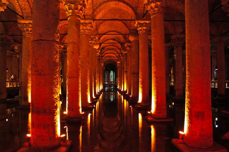 The Basilica Cistern has been providing Istanbul residents with water since the sixth century when it was ordered built by the Roman Emperor Justinian I.