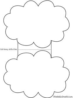 Printable Cloud Card Template #sprinklebabyshower